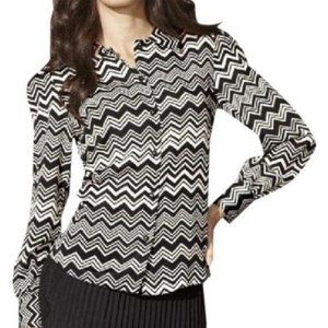 Missoni for Target Button Down Chevron Blouse Med